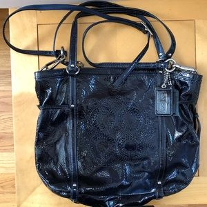 Coach Navy Blue Patent Handbag